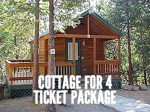 Cottage for 4 ticket package